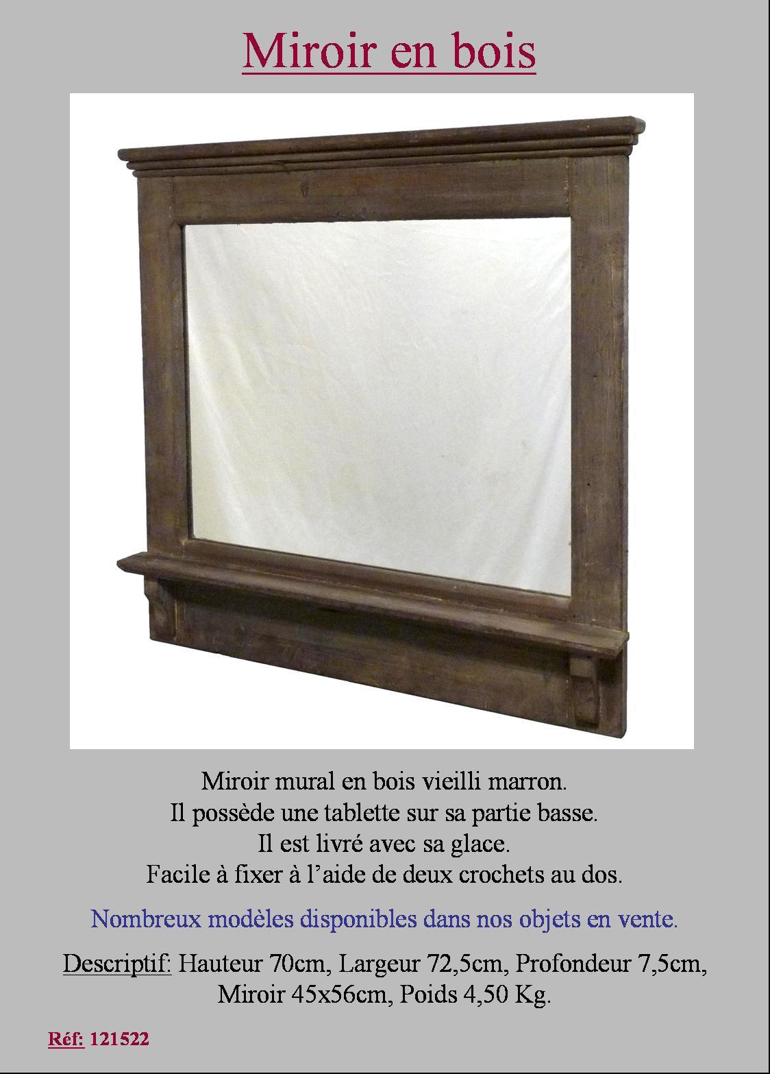 Style ancien miroir etagere de cuisine salon d entr e en for Miroir etagere salon