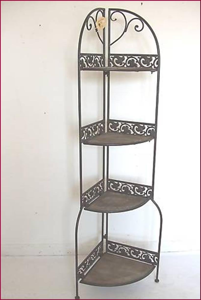 Tag re d angle console boulang re vieu bois fer forg - Etagere baignoire angle ...