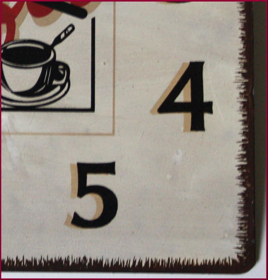 Horloge pendule plaque metal pub murale en fer cuisine ebay for Plaque anti eclaboussure cuisine murale