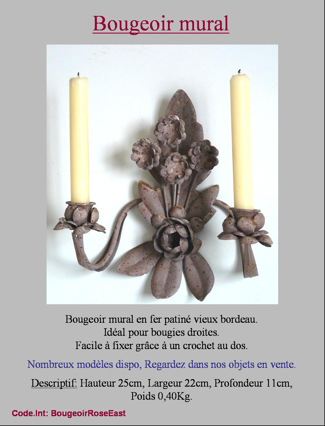 bougeoir chandelier a bougie mural lampe lustre en fer ebay. Black Bedroom Furniture Sets. Home Design Ideas
