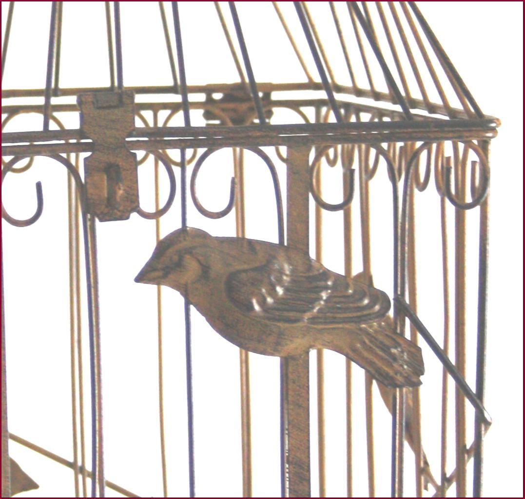 Cage oiseaux plante fleur bougie d corative lustre en for Cage a oiseaux decorative