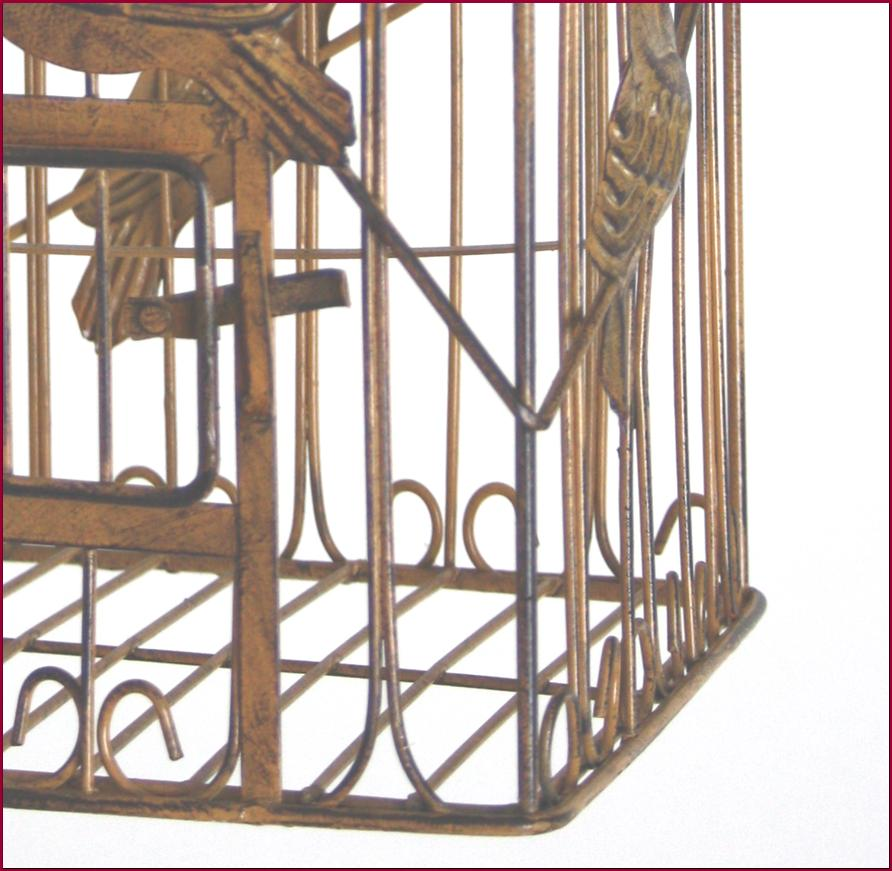 cage oiseaux porte plante fleur bougie fer 35cm carree ebay. Black Bedroom Furniture Sets. Home Design Ideas