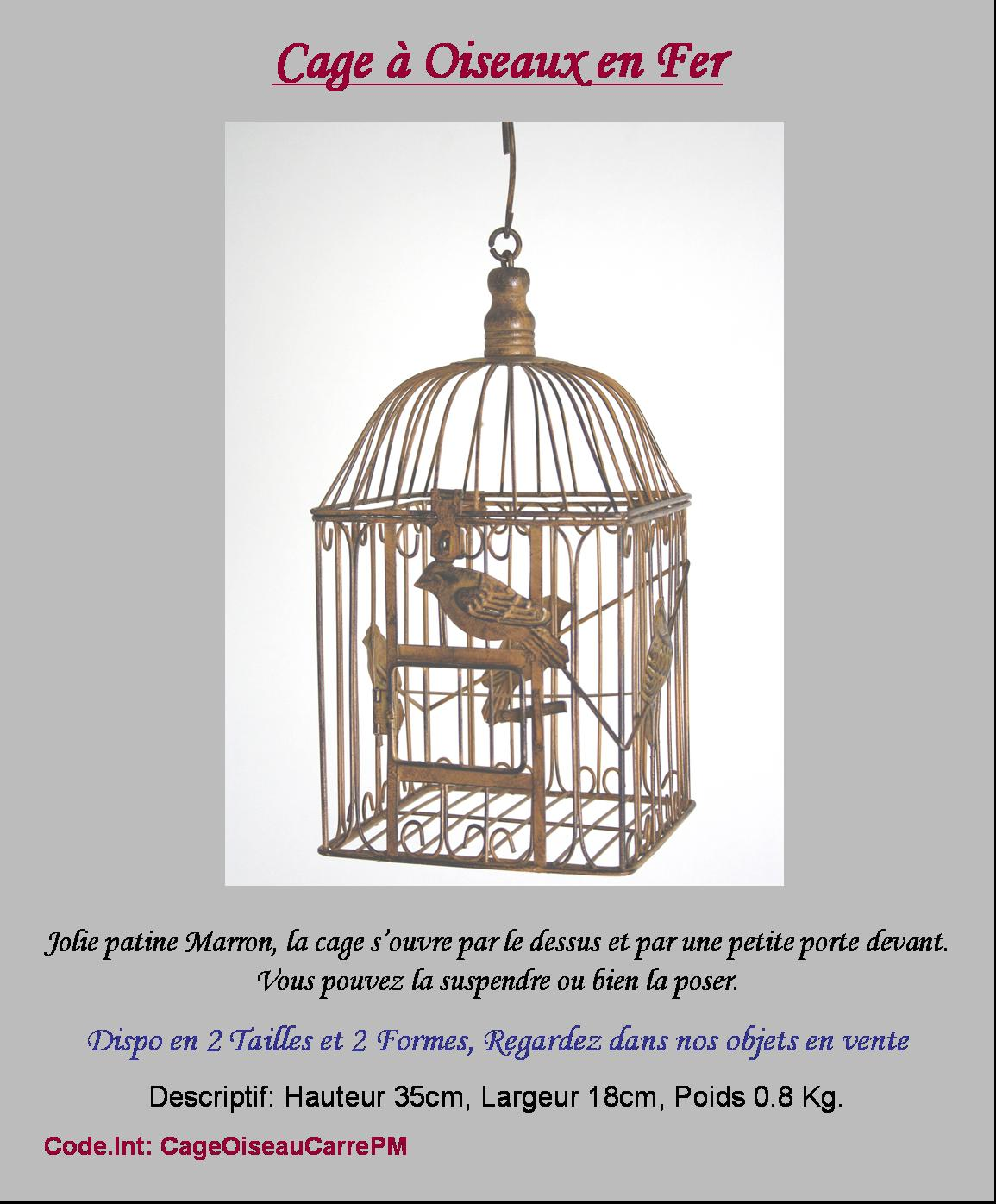 Cage oiseaux porte plante fleur bougie fer 35cm carree ebay for Deco cage a oiseaux