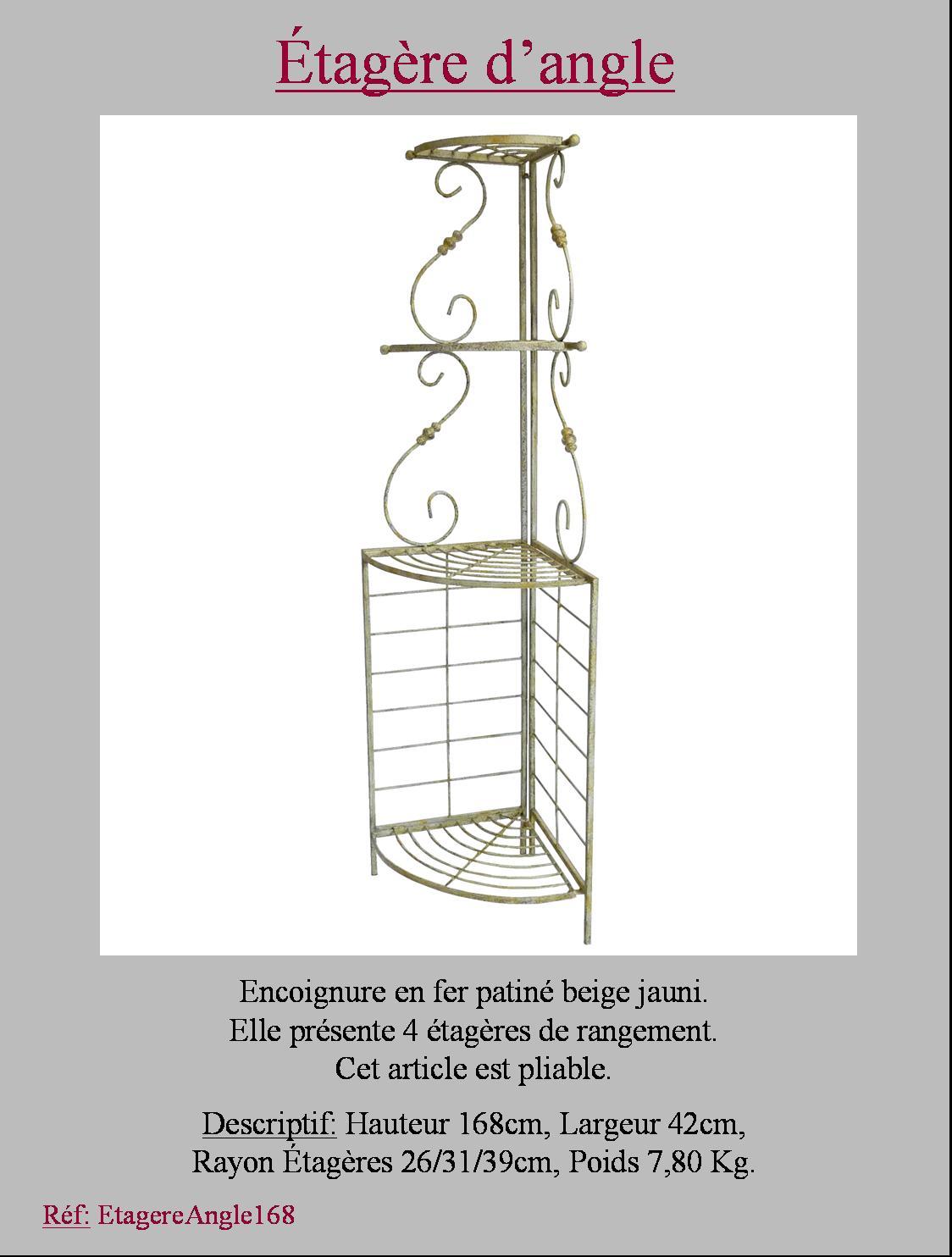 style ancienne etagere boulangere d angle de coin en fer de cuisine salon ebay. Black Bedroom Furniture Sets. Home Design Ideas