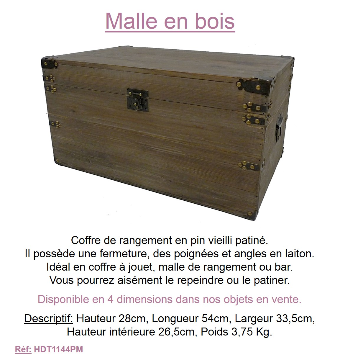 l ment d co boite photos coffret souvenirs coffre rangement malle transportable ebay. Black Bedroom Furniture Sets. Home Design Ideas