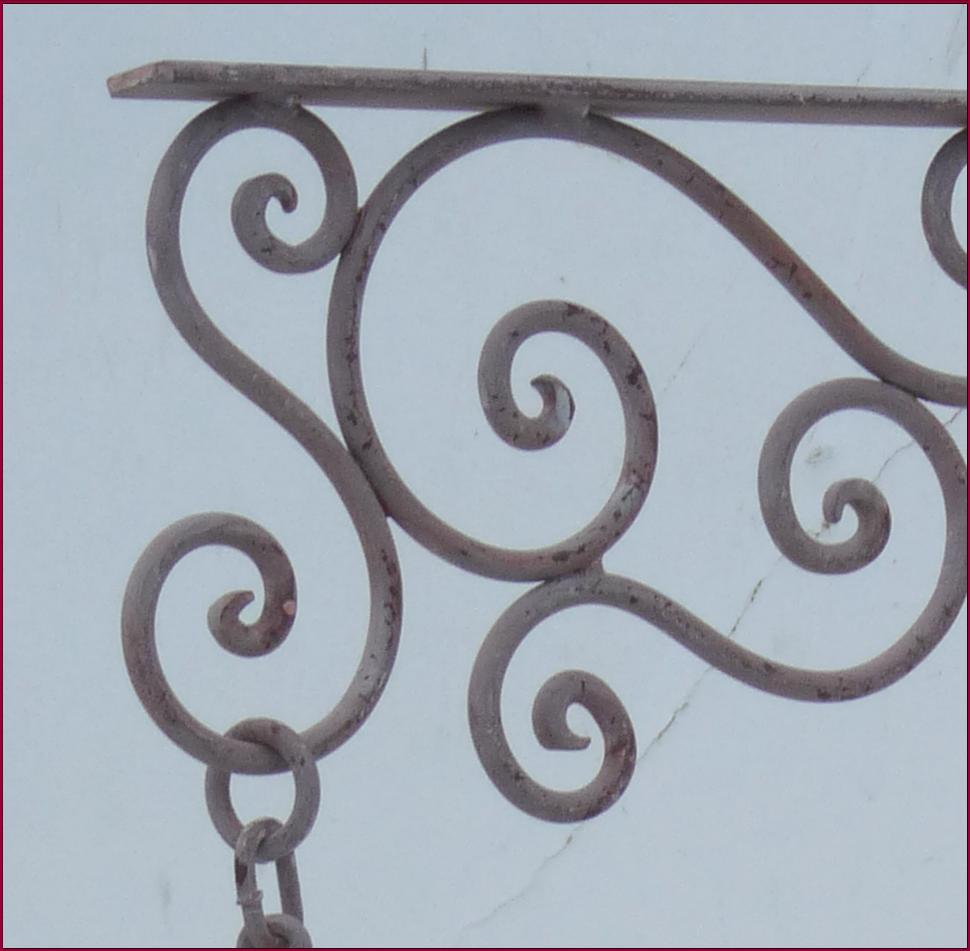 Style ancien vieille horloge de gare fer forge murale ebay - Deco murale en fer forge ...