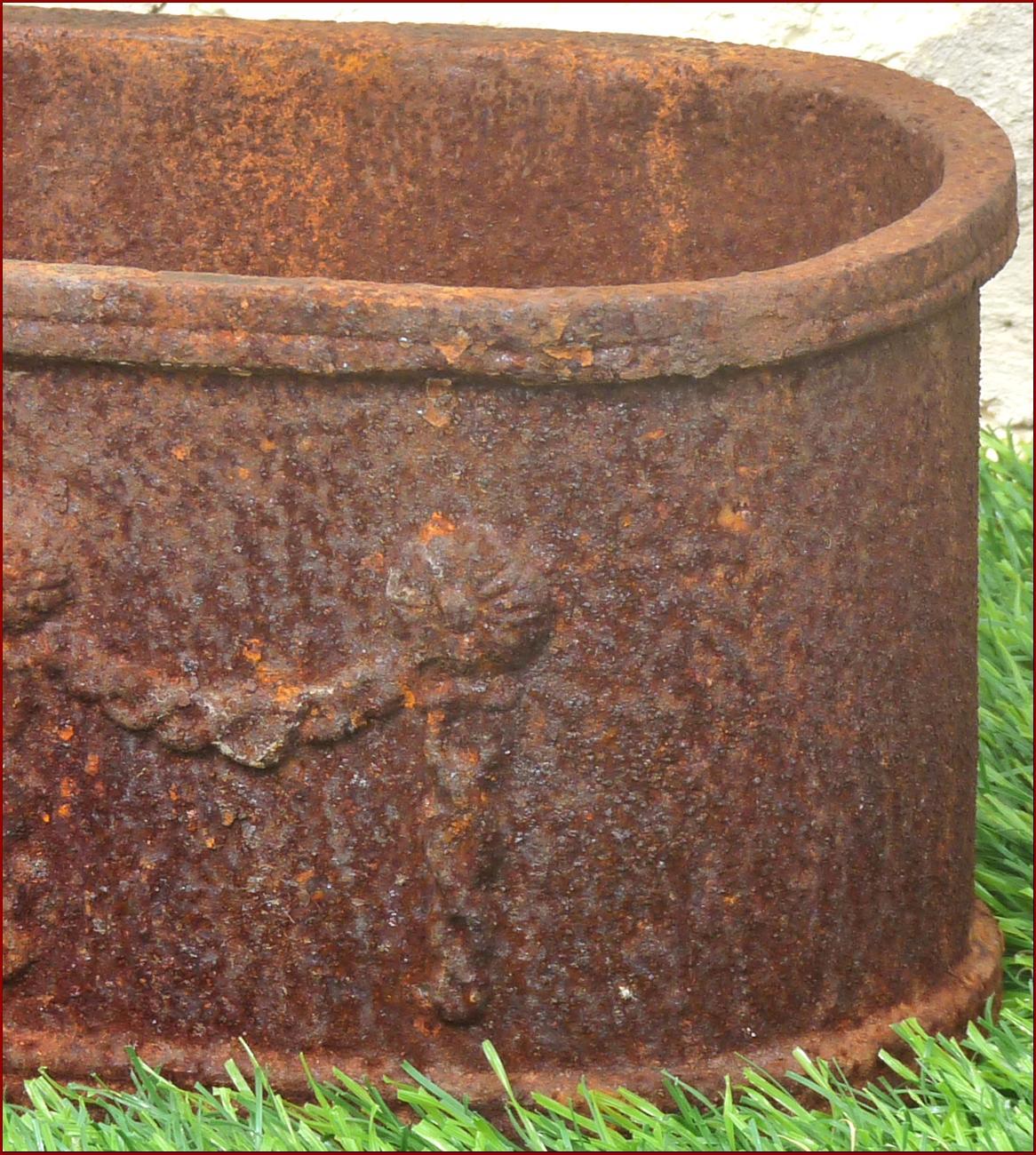 Jardiniere bac pot vasque en fonte de jardin fenetre ebay for Jardiniere vasque jardin