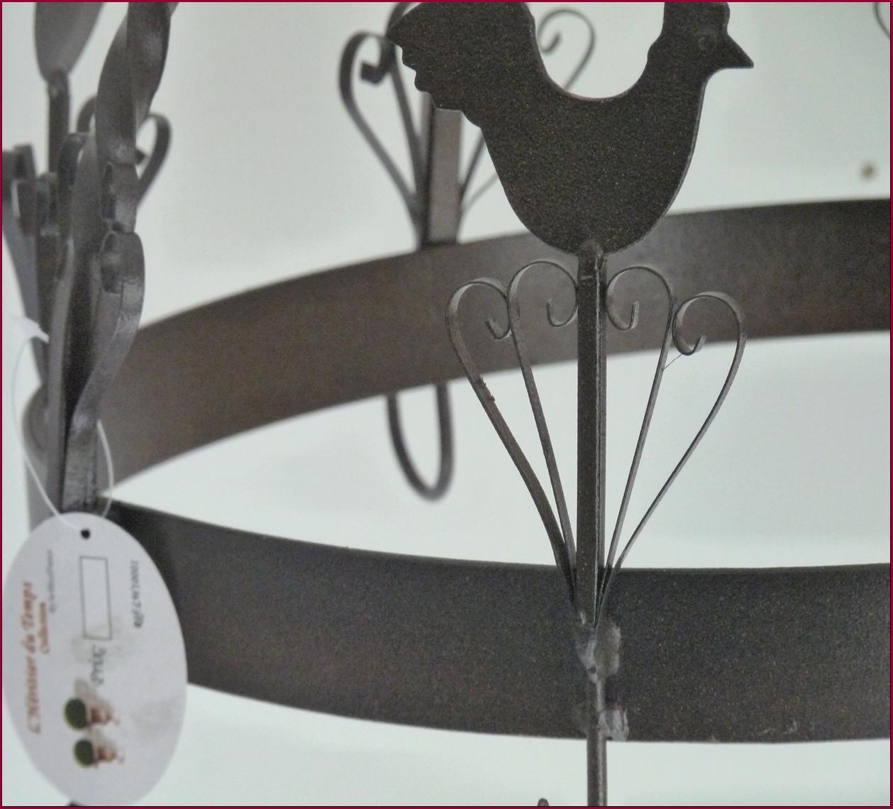 style ancien porte jambon ratelier ustensile casserole etagere de cuisine 27cm ebay. Black Bedroom Furniture Sets. Home Design Ideas