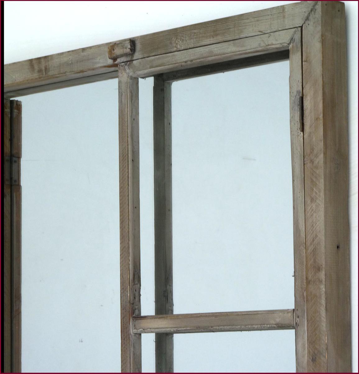 Grand miroir fenetre a volet en vieux bois style ancien ebay for Grand miroir fenetre