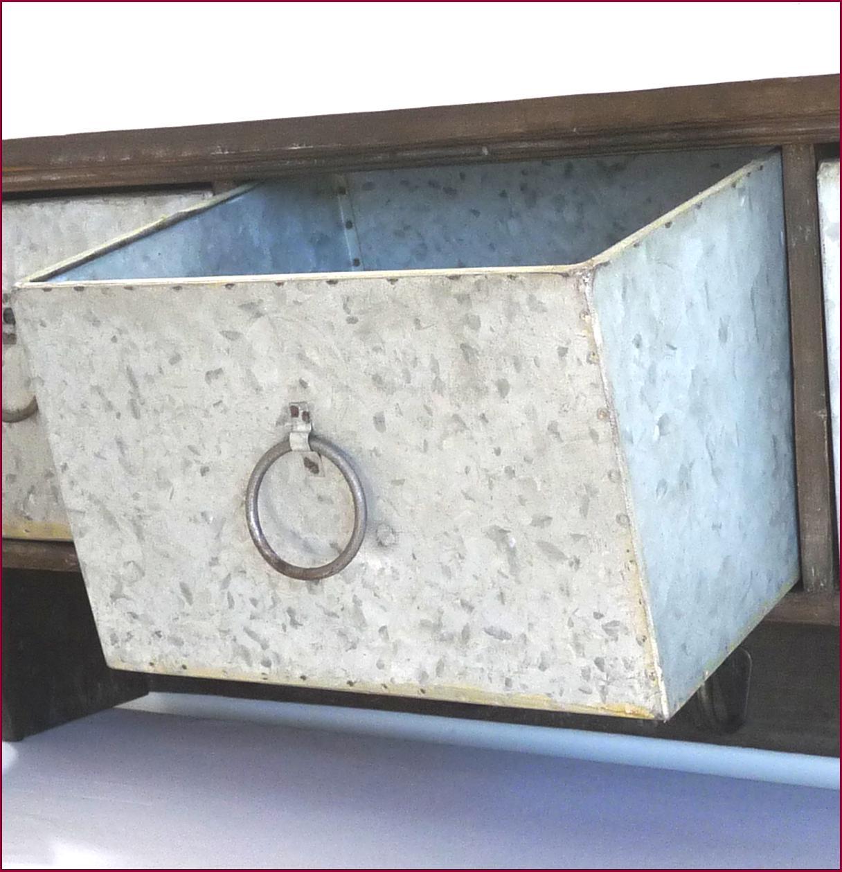 Style ancien etagere console murale avec casier tiroir for Etagere murale cuisine but