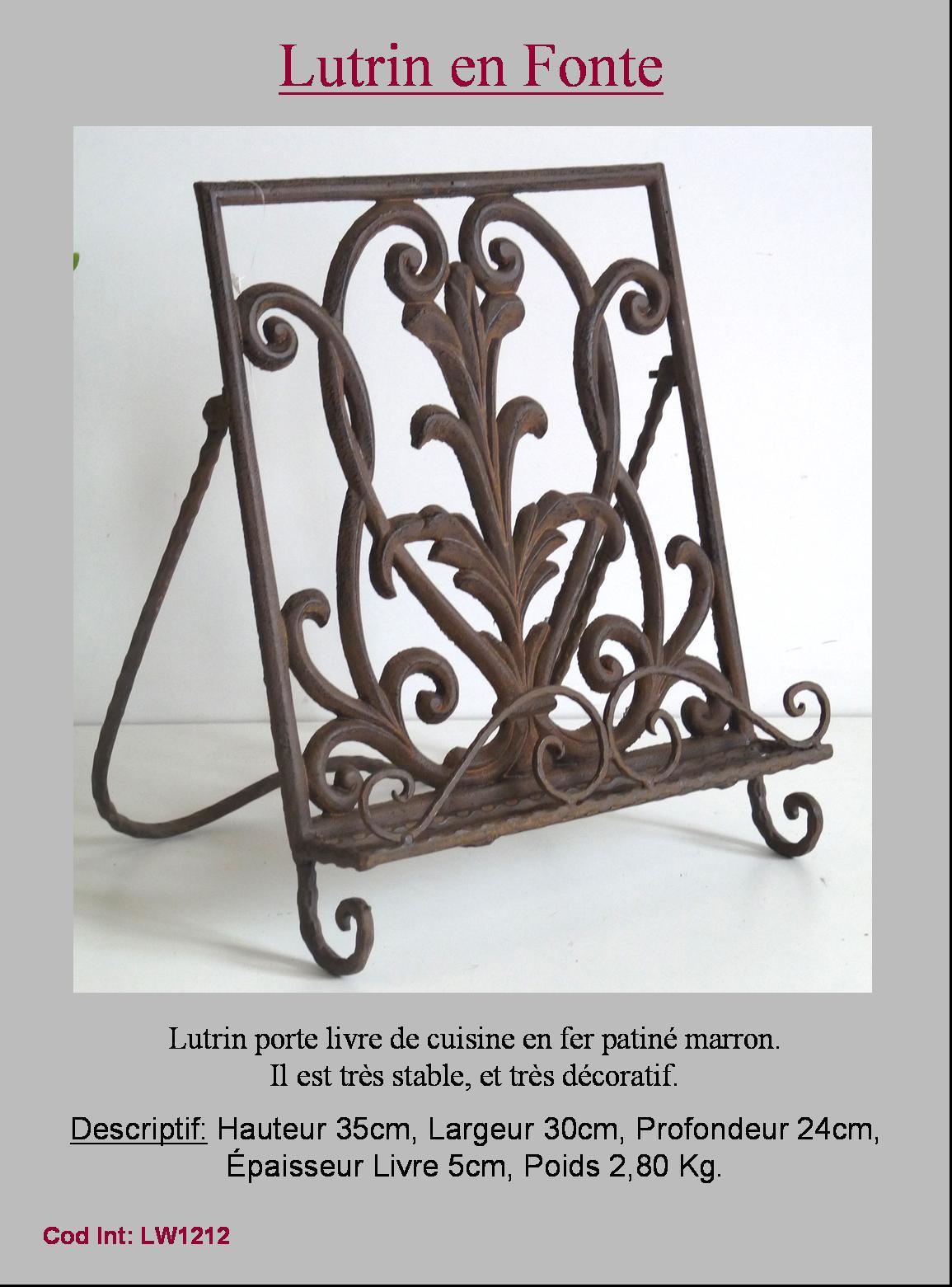 porte livre lutrin chevalet pupitre de lecture cuisine ebay. Black Bedroom Furniture Sets. Home Design Ideas
