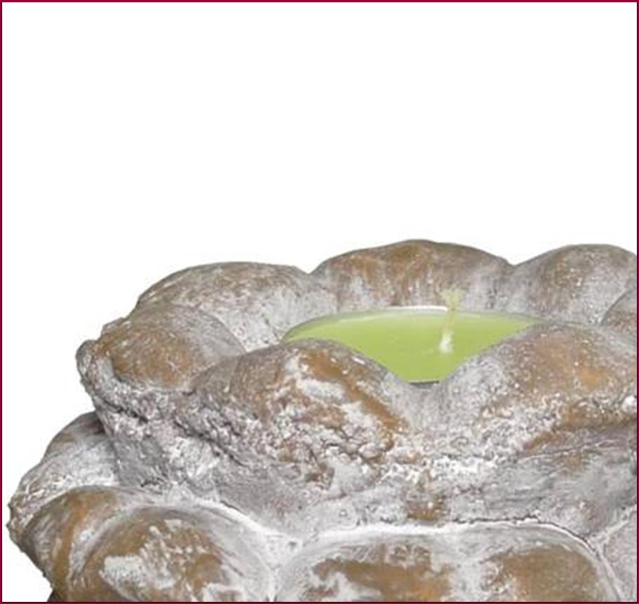 2 Bougeoir Chandelier De Table De Jardin Terrasse Terre Cuite Pomme De Pin 11cm Ebay