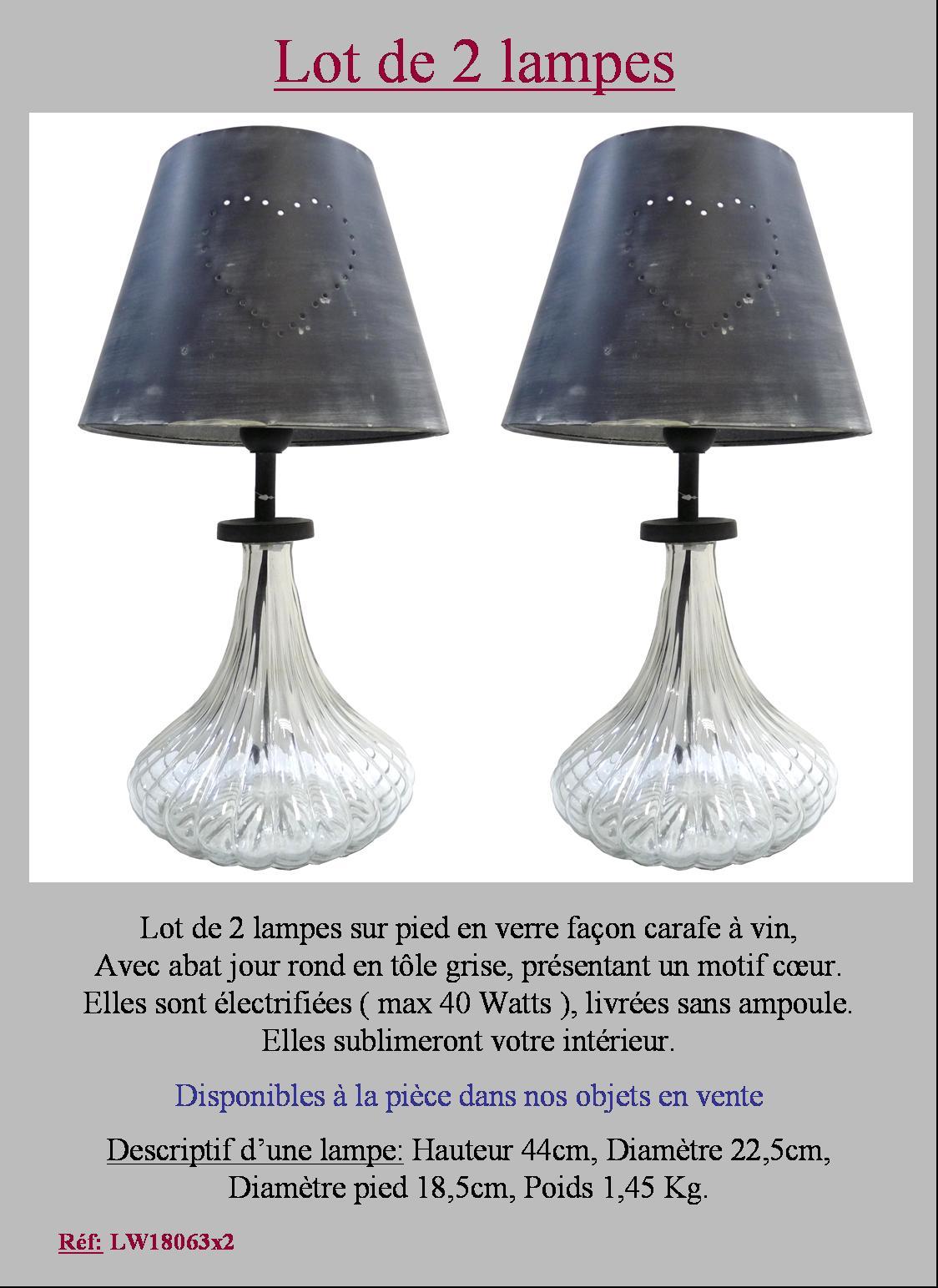 2 lampe de charme de table de chevet de console colonne en - Lampe table de chevet ...