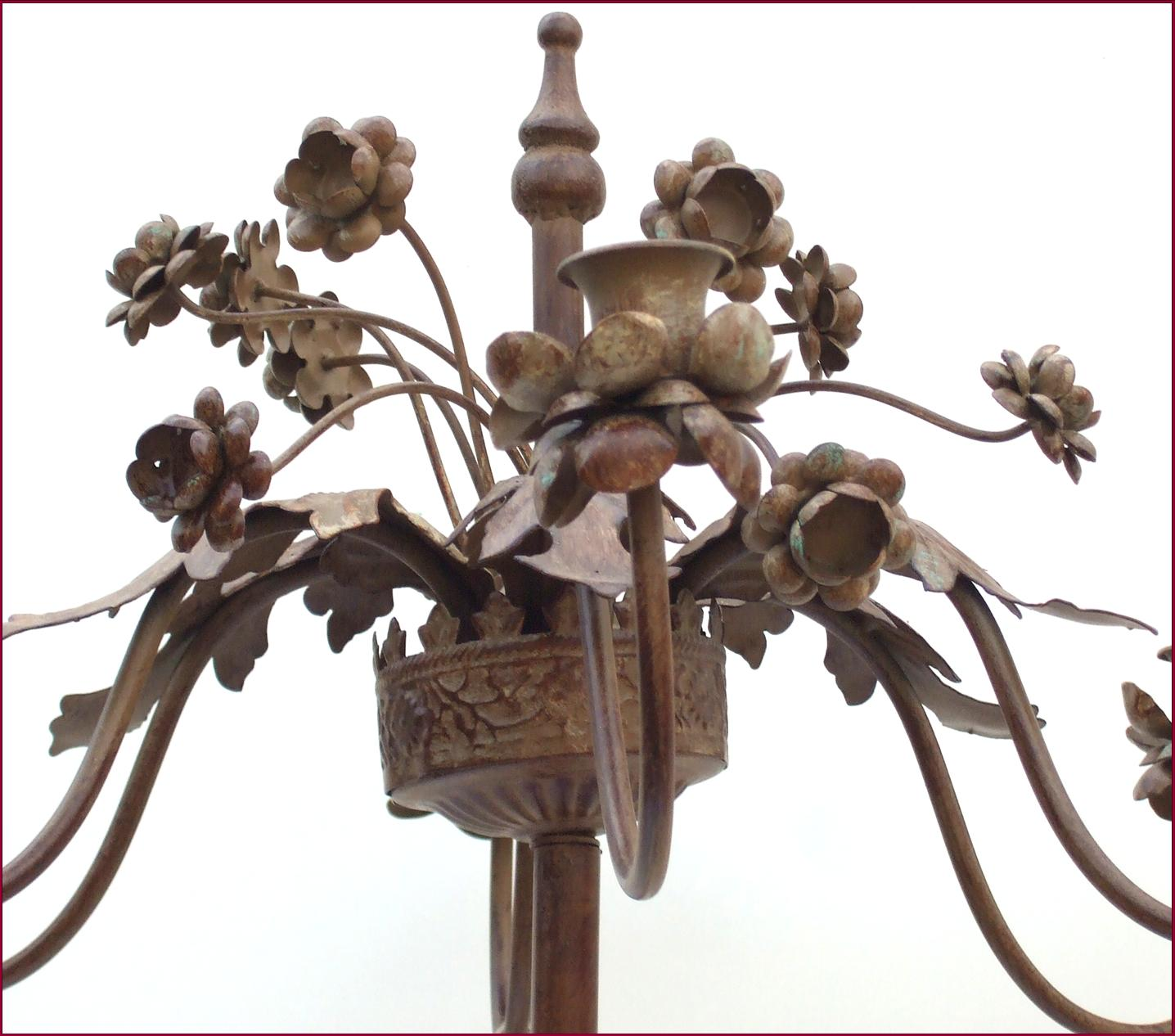 grand bougeoir chandelier candelabre haut sur pied a bougie en fer lampe lustre ebay. Black Bedroom Furniture Sets. Home Design Ideas