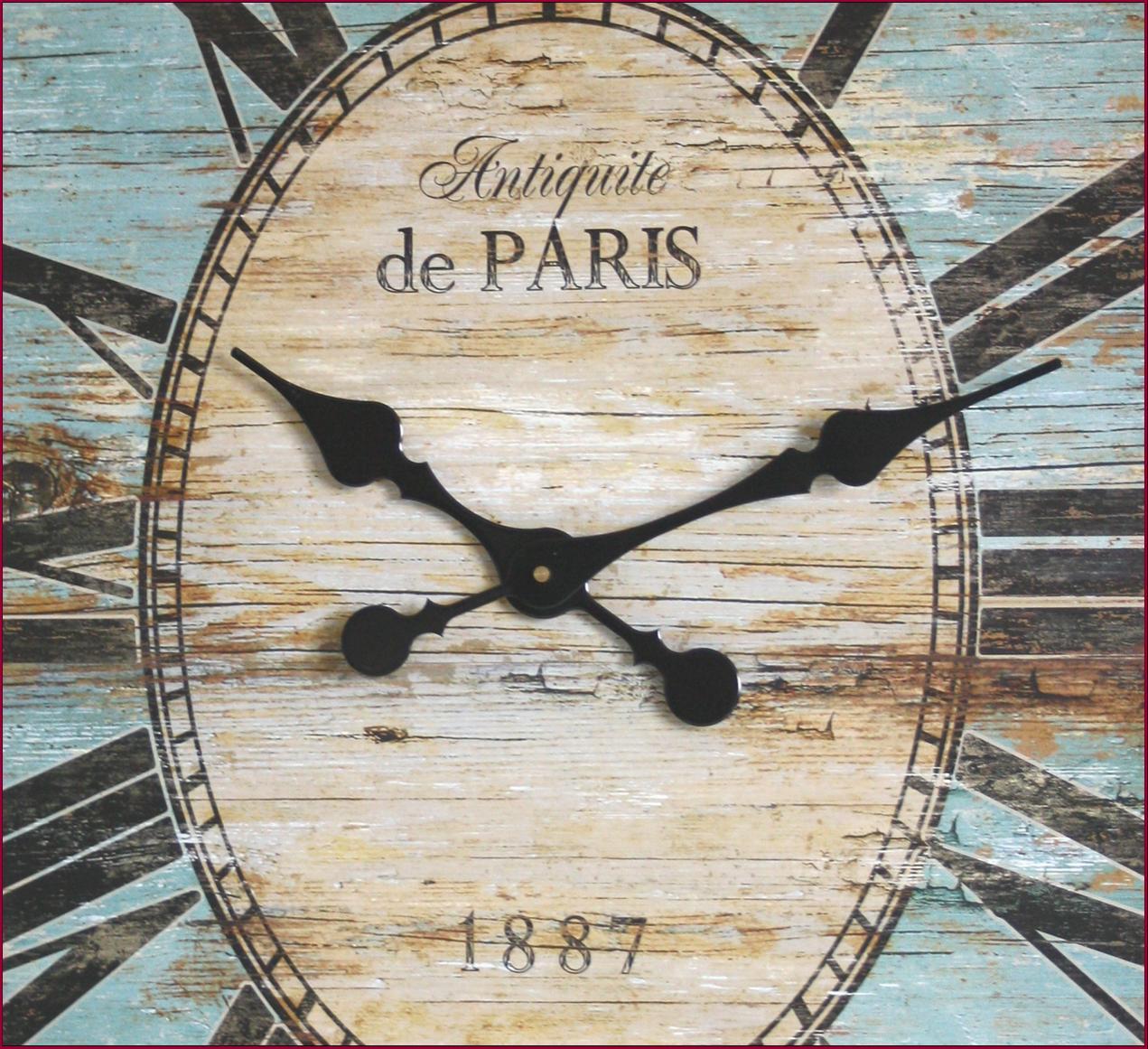 Grande horloge pendule en bois murale oval 75x62cm de - Grande horloge murale bois ...