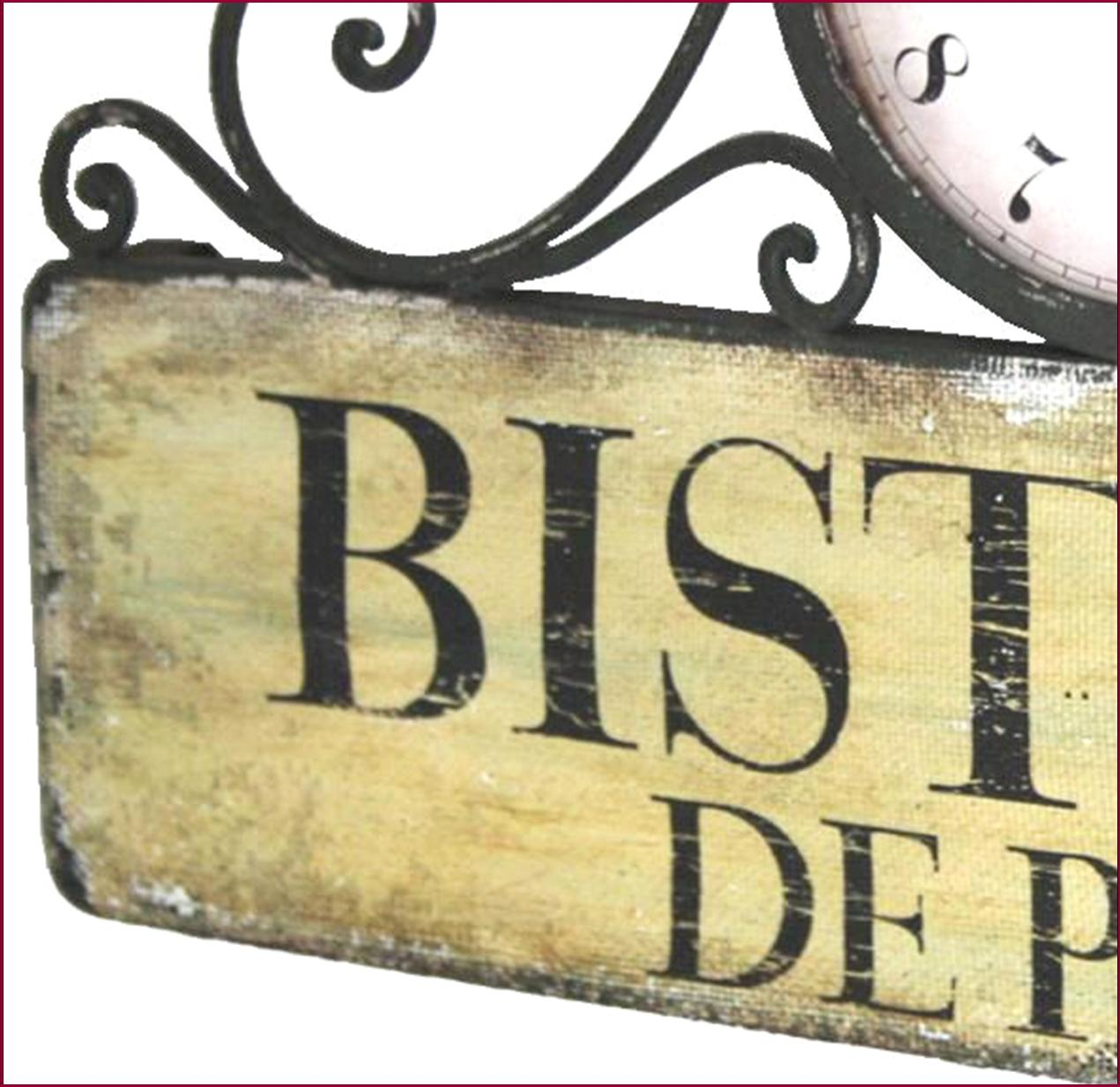 Style ancienne horloge de gare cuisine salon bar d entr e bistrot 48cm murale for Horloge murale style bistrot