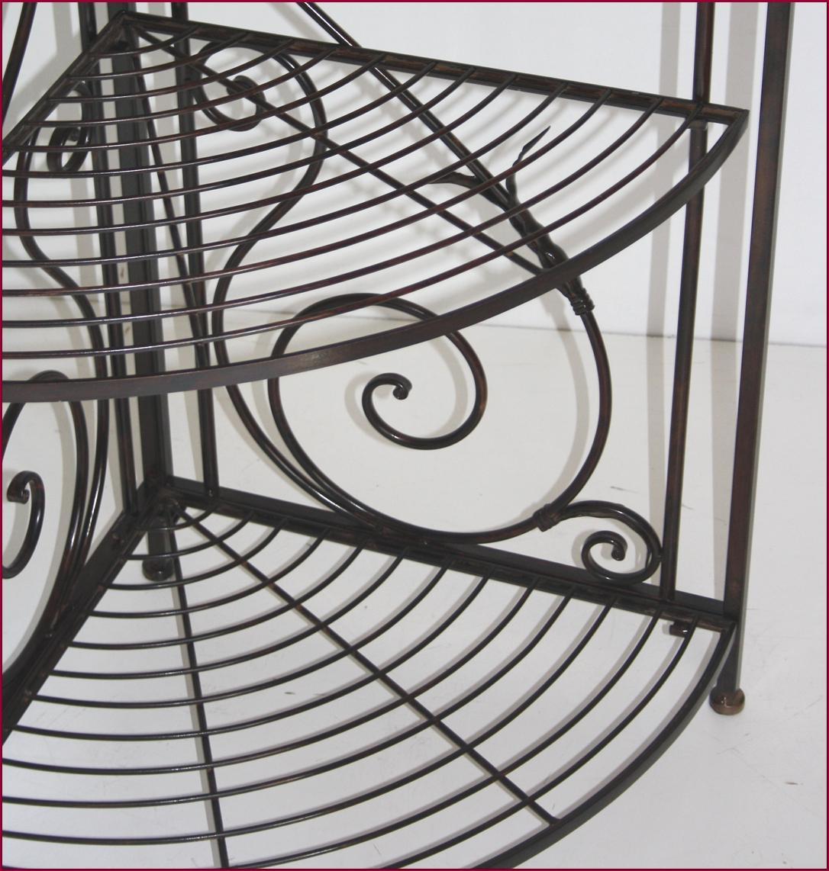 etagere boulangere console d angle de coin en fer forg ideal cuisine salon ebay. Black Bedroom Furniture Sets. Home Design Ideas