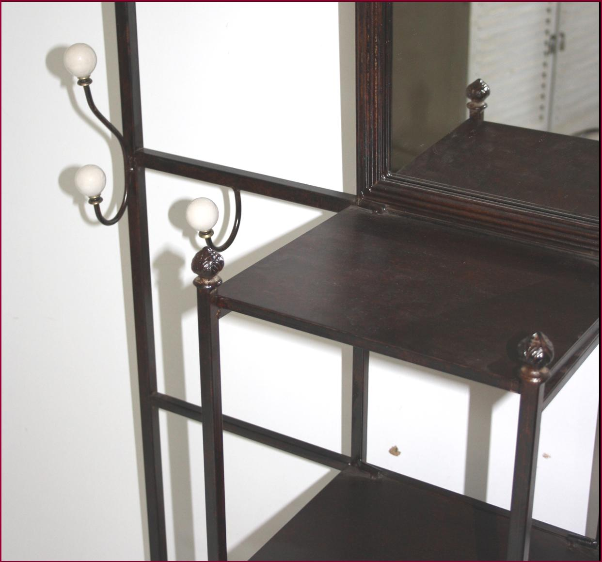 meuble d entree meuble de rangement vestiaire fer forge ebay. Black Bedroom Furniture Sets. Home Design Ideas