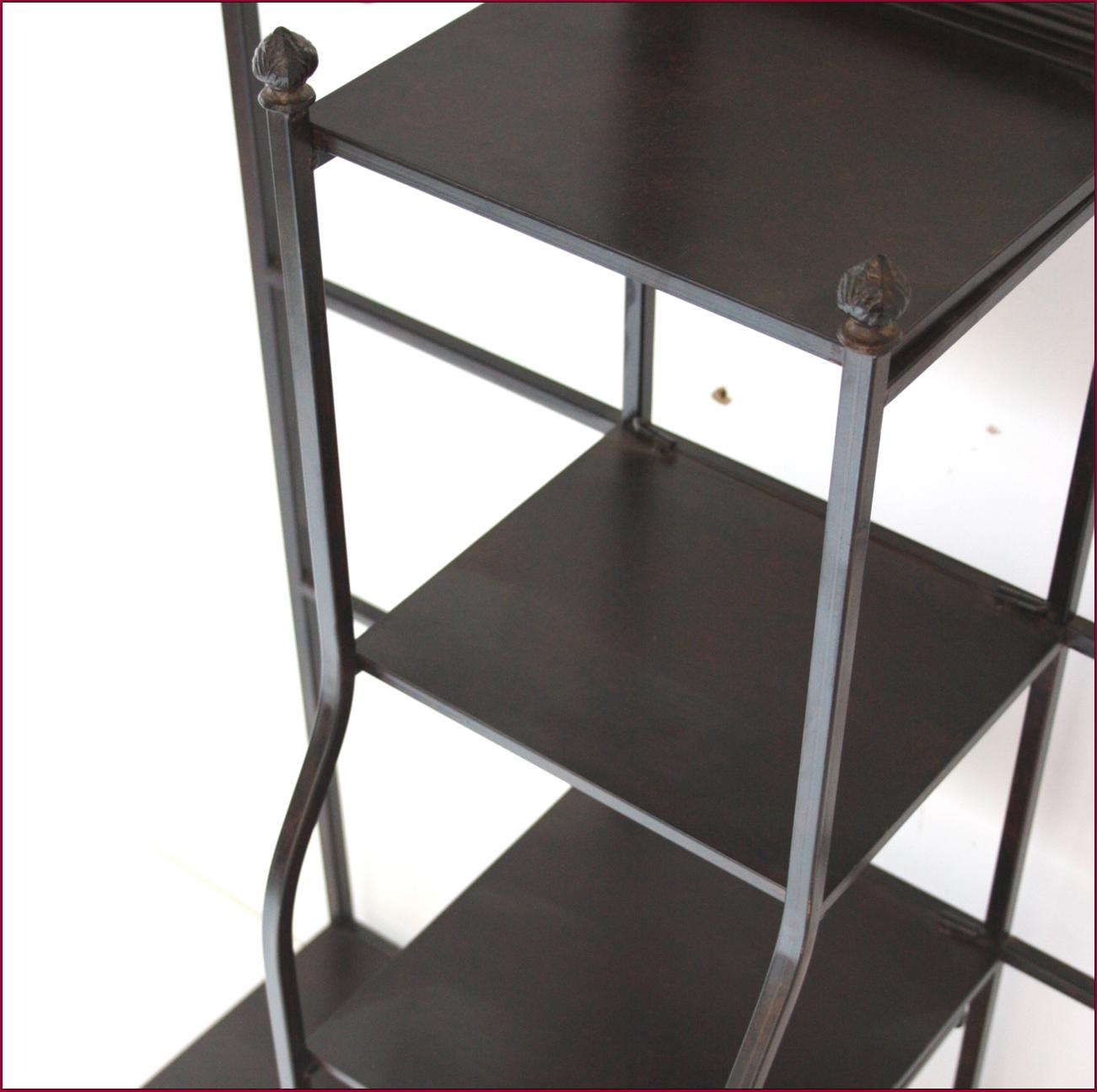 Meuble d entree meuble de rangement vestiaire fer forge ebay for Rangement entree