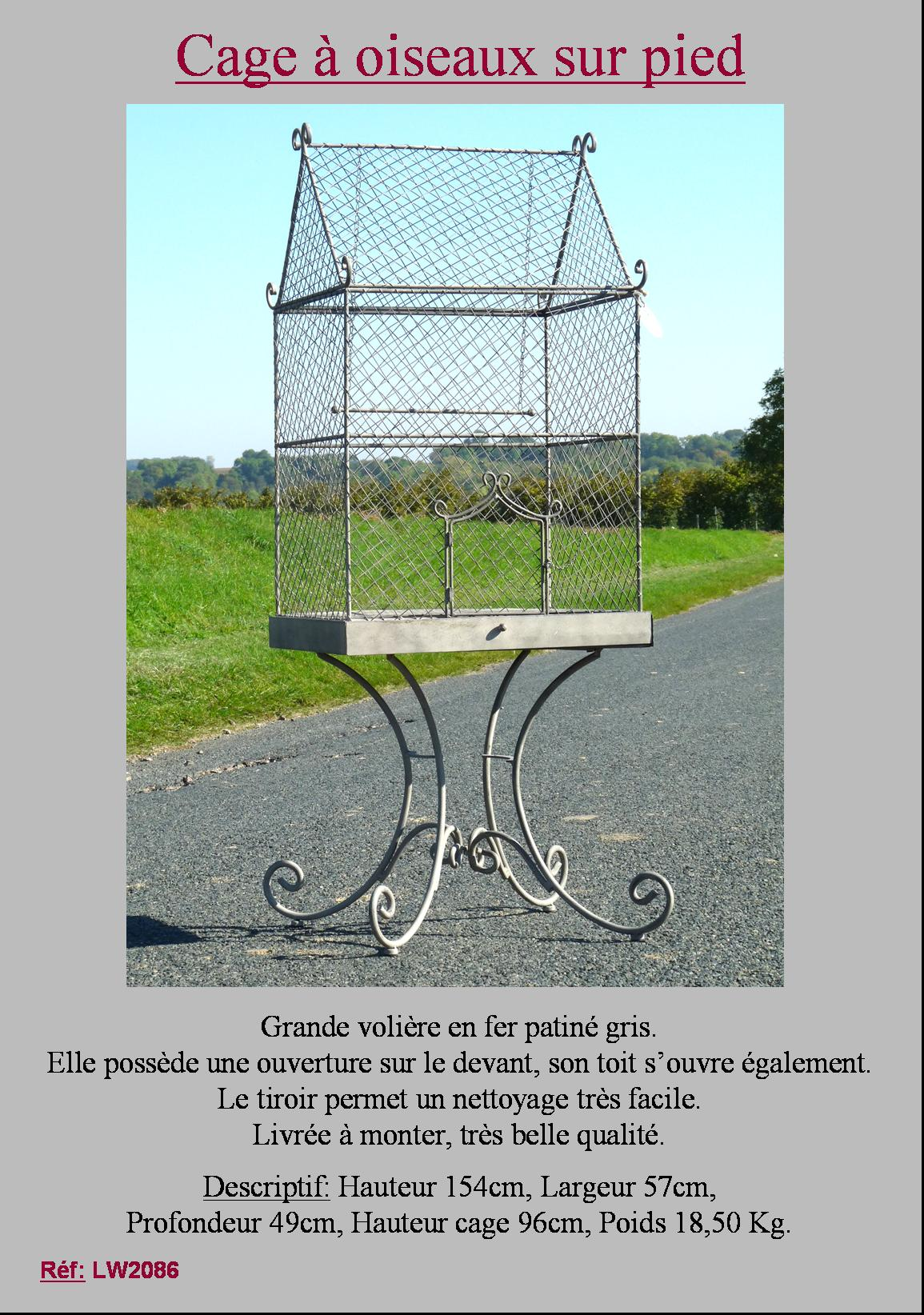 Grande voli re cage a oiseau perroquet perruche nichoir for Cage a oiseau deco