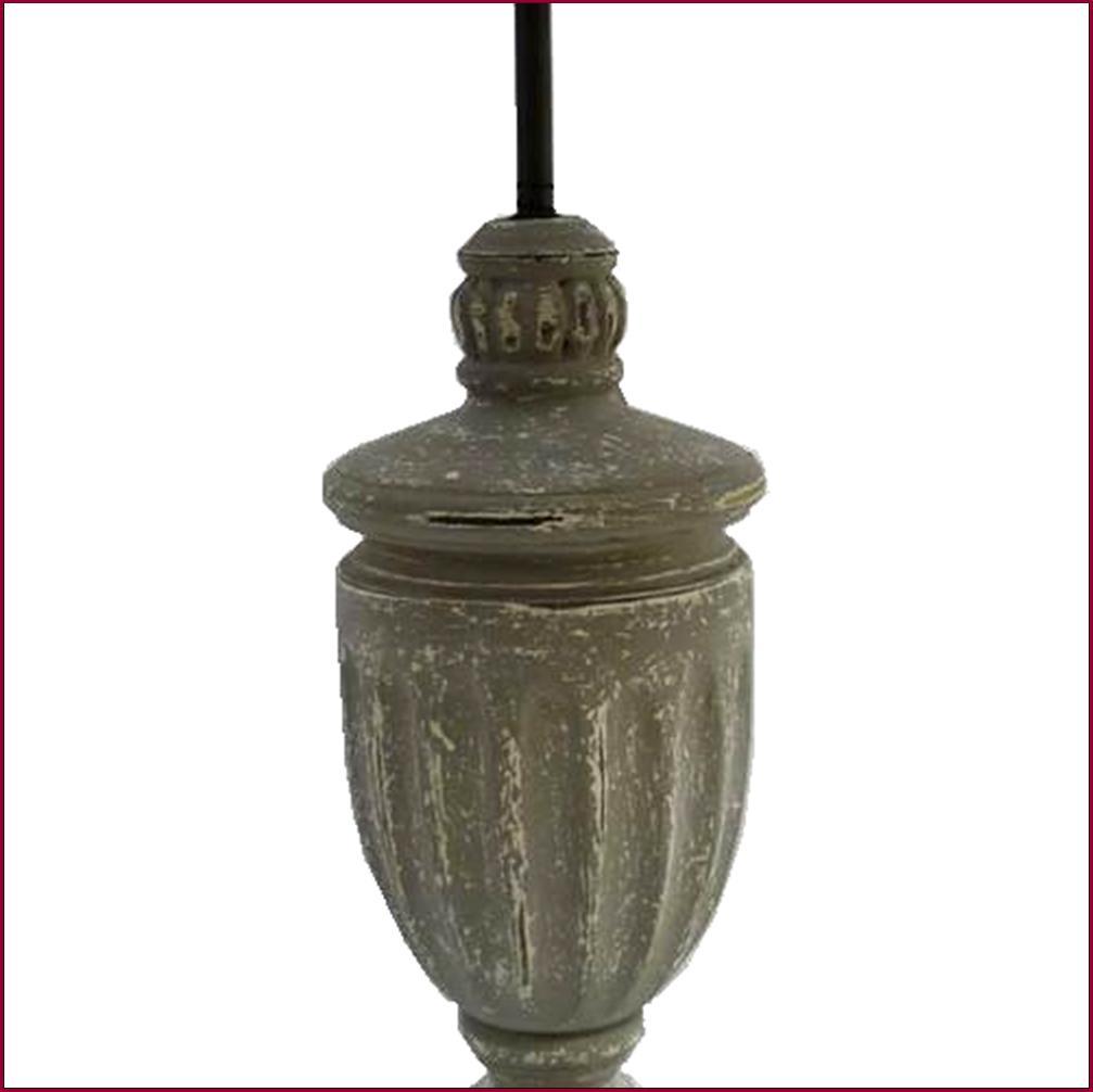 Lampe de charme colonne epis de chevet de chambre de salon en bois grise 68cm ebay - Lampe de chevet grise ...