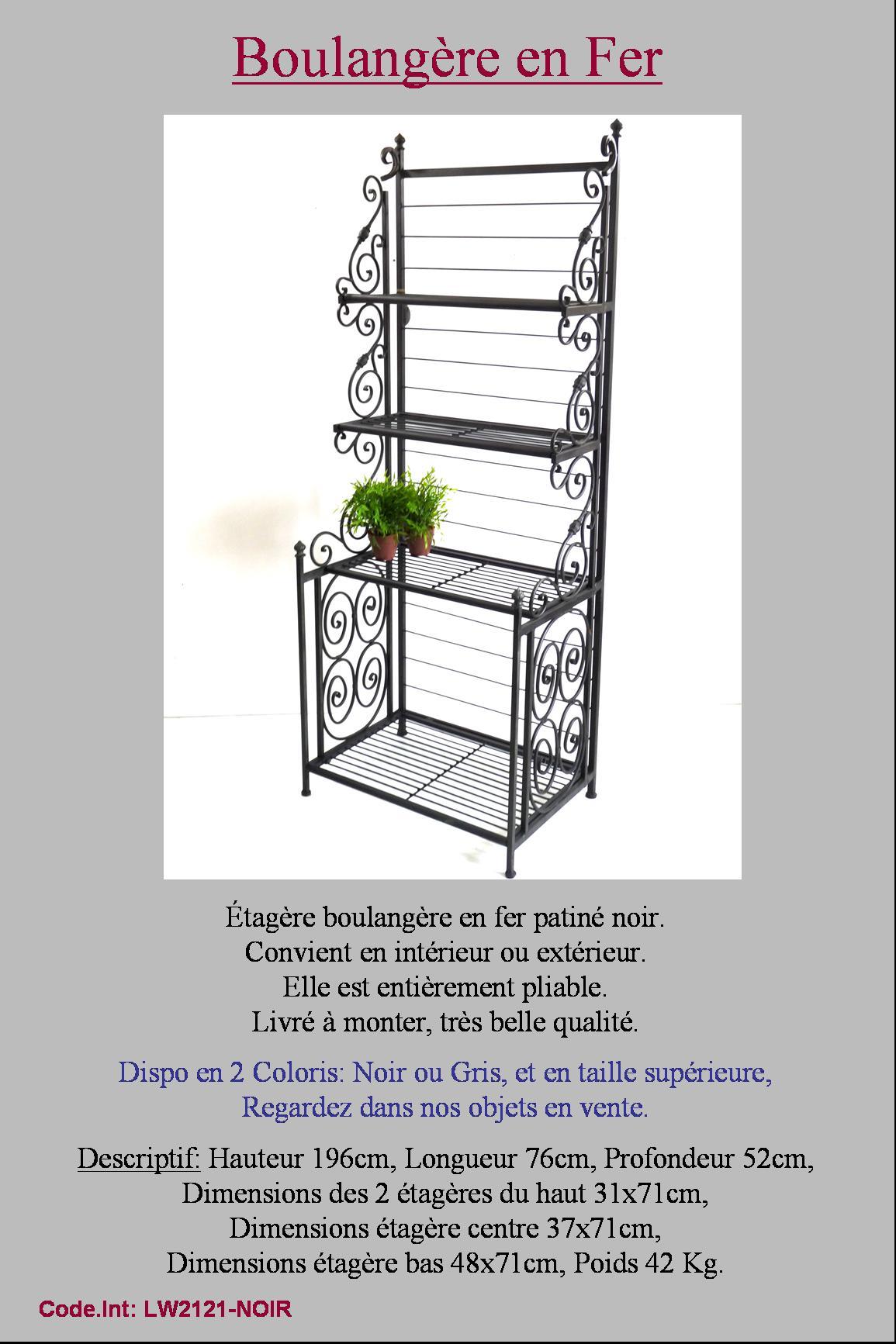 belle style ancienne etagere boulangere de boulanger boulangerie en fer forge ebay. Black Bedroom Furniture Sets. Home Design Ideas