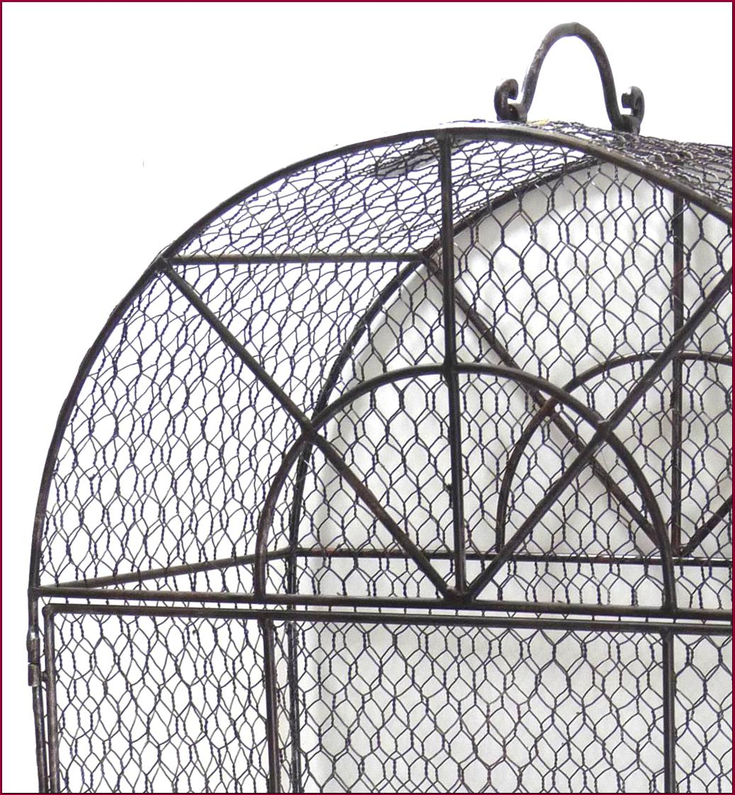 Style ancienne cage voliere en metal fer grillage a oiseaux perchoir nichoir ebay for Cages a oiseaux decoratives
