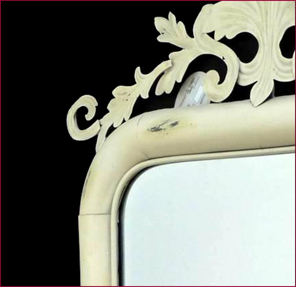 style ancien miroir antique trumeau blanc en fer de salon