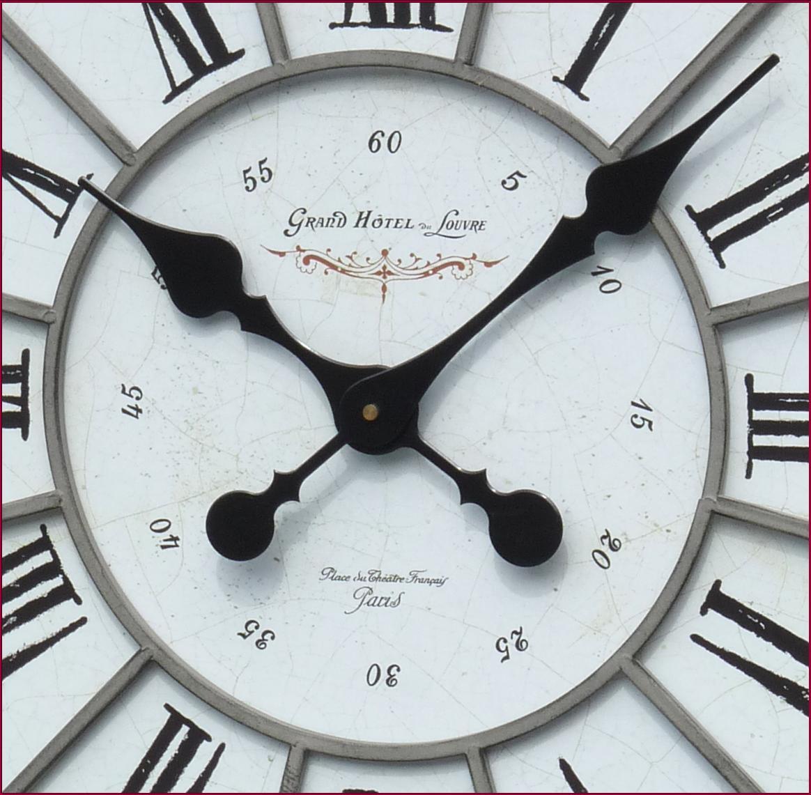 style ancienne grande horloge pendule murale en fer de cuisine salon industriel. Black Bedroom Furniture Sets. Home Design Ideas