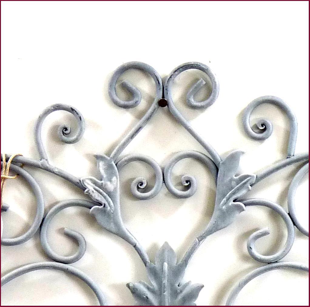 Grand dessus de porte fenetre applique grille mural de for Decoration fenetre