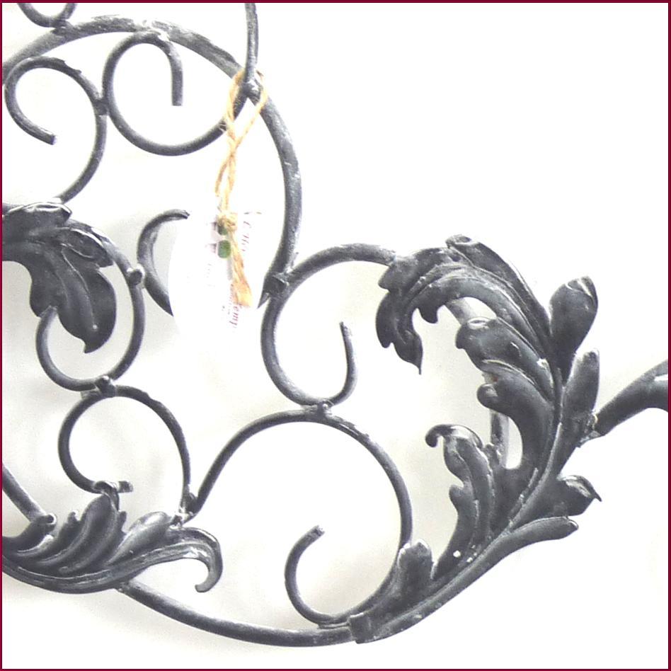 Style ancien fronton grille applique dessus de porte de for Tete de fenetre decorative