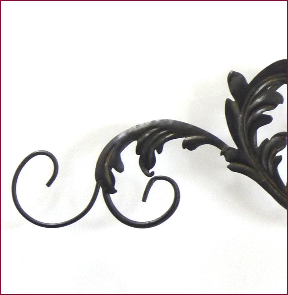 style ancien fronton dessus de porte fenetre tete de lit applique mural en fer ebay. Black Bedroom Furniture Sets. Home Design Ideas