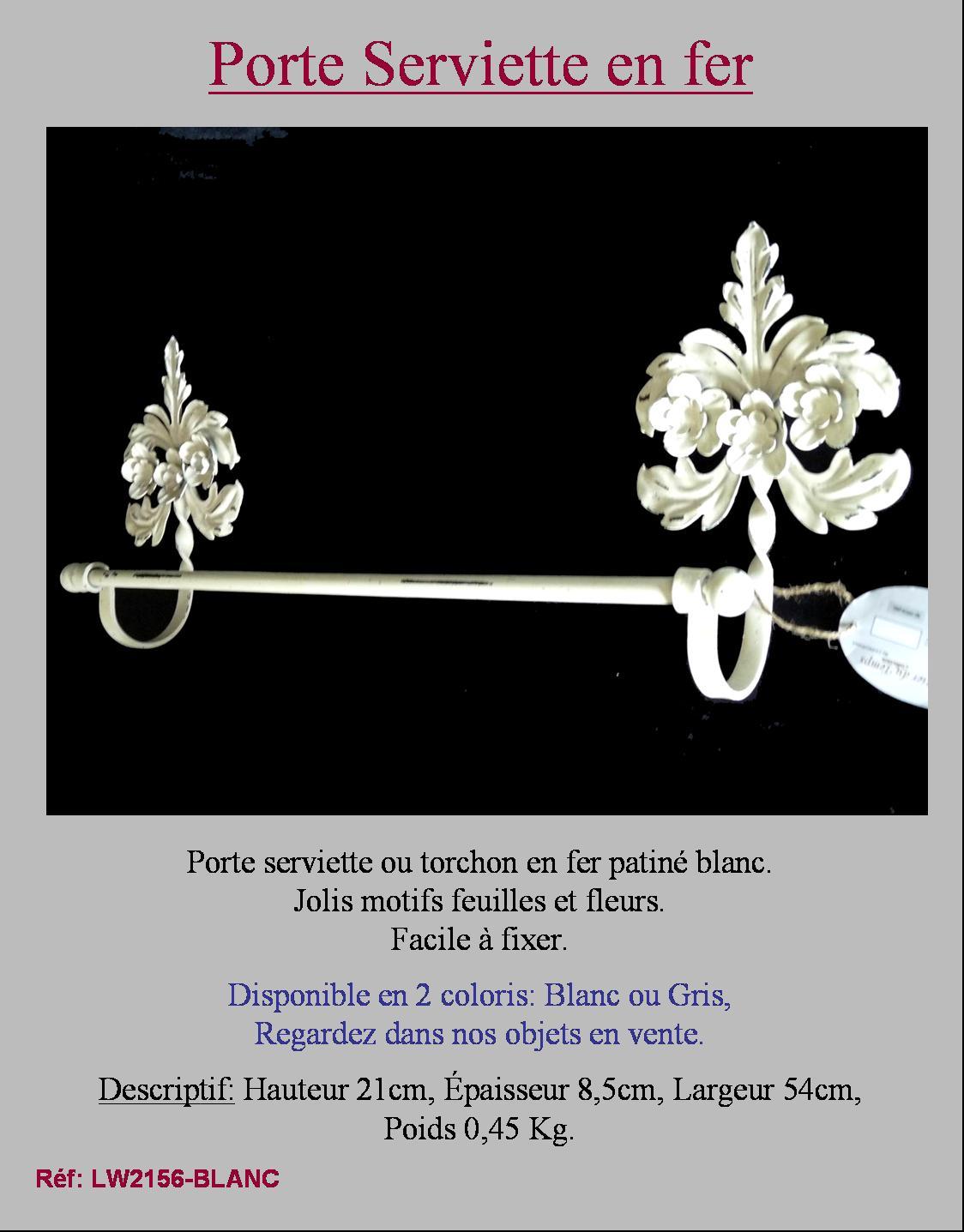 Style Ancien Repose Porte Serviette Mural Blanc De Salle De Bain Cuisine En Fer