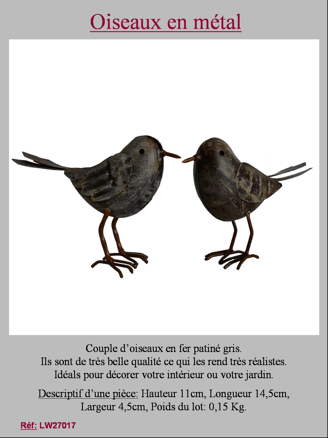 couple d oiseau oiseaux statue decoration animaux coq canard de jardin en fer ebay. Black Bedroom Furniture Sets. Home Design Ideas