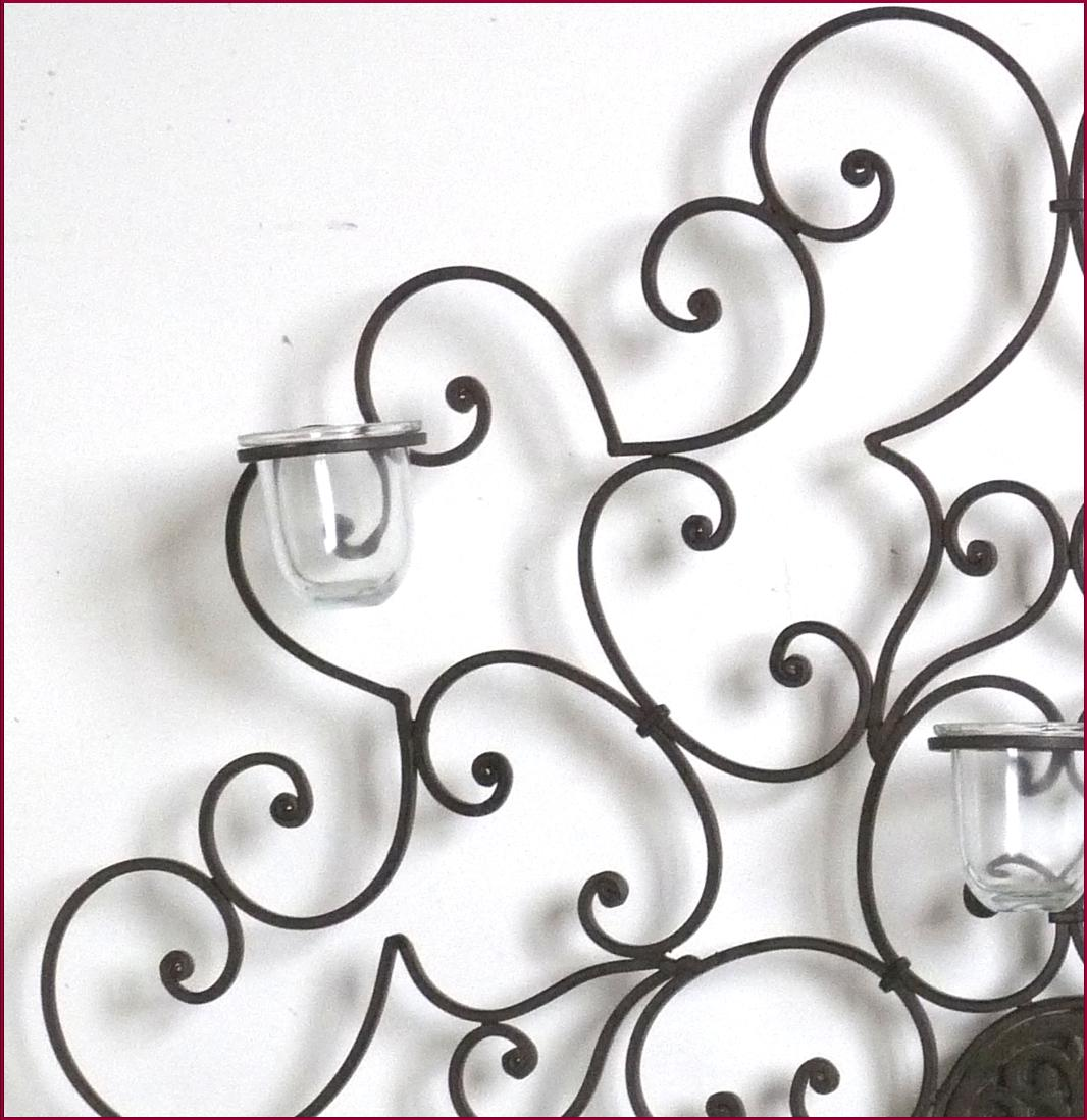decoration mural en fer forge photophore applique bougeoir lampe bougie ebay. Black Bedroom Furniture Sets. Home Design Ideas