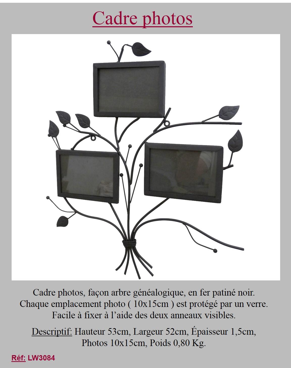 porte photos arbre de vie murale porte souvenirs 3 cadres rectangulaire 53x52cm ebay. Black Bedroom Furniture Sets. Home Design Ideas