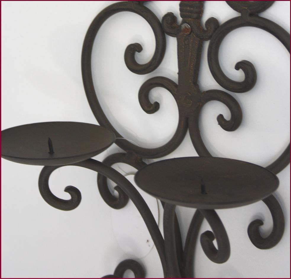 bougeoir chandelier a bougie applique en fer mural lampe lustre eclairage ebay. Black Bedroom Furniture Sets. Home Design Ideas