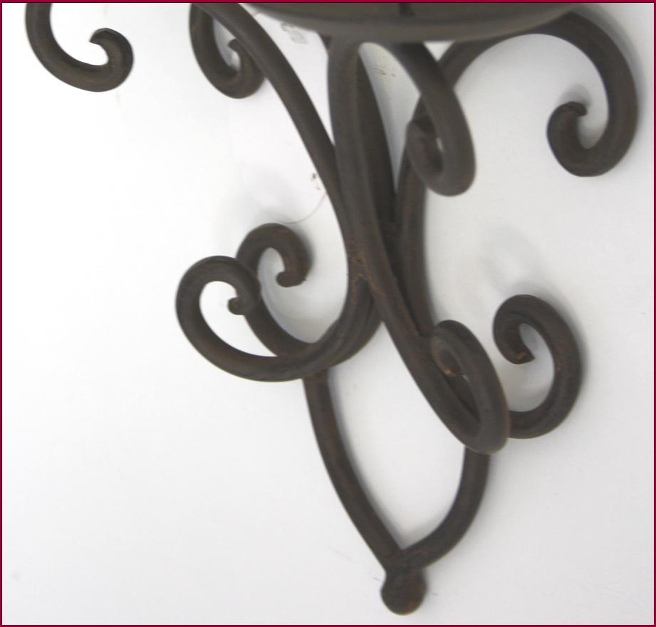 Bougeoir chandelier a bougie applique en fer mural lampe for Bougeoir mural ancien