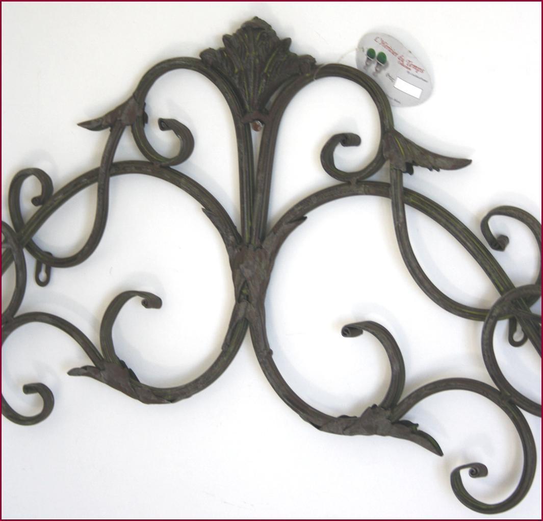 applique fronton dessus de porte en fer forge mural ebay. Black Bedroom Furniture Sets. Home Design Ideas