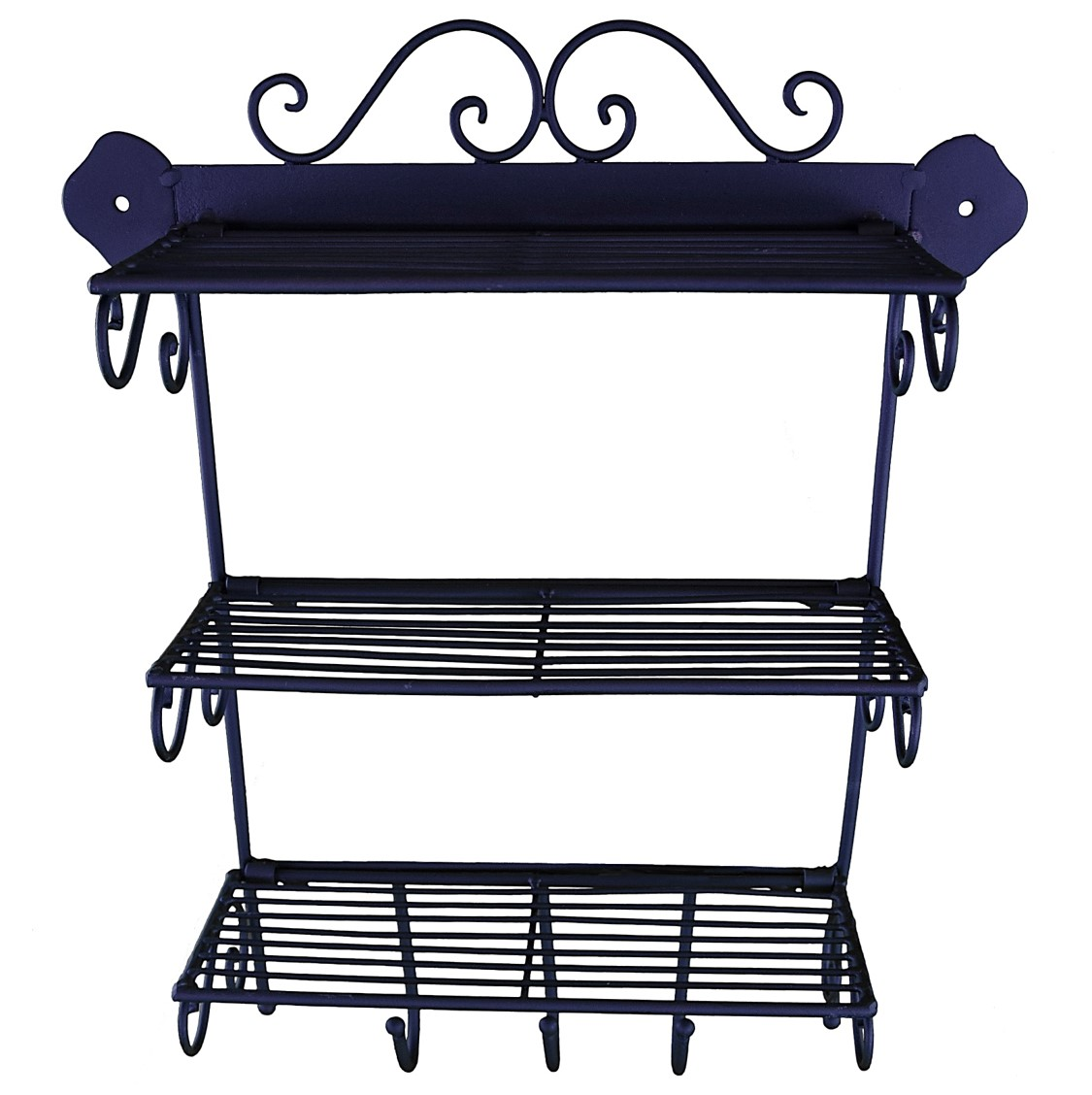 etagere murale cuisine fer forge style ancienne 40x33cm ebay. Black Bedroom Furniture Sets. Home Design Ideas