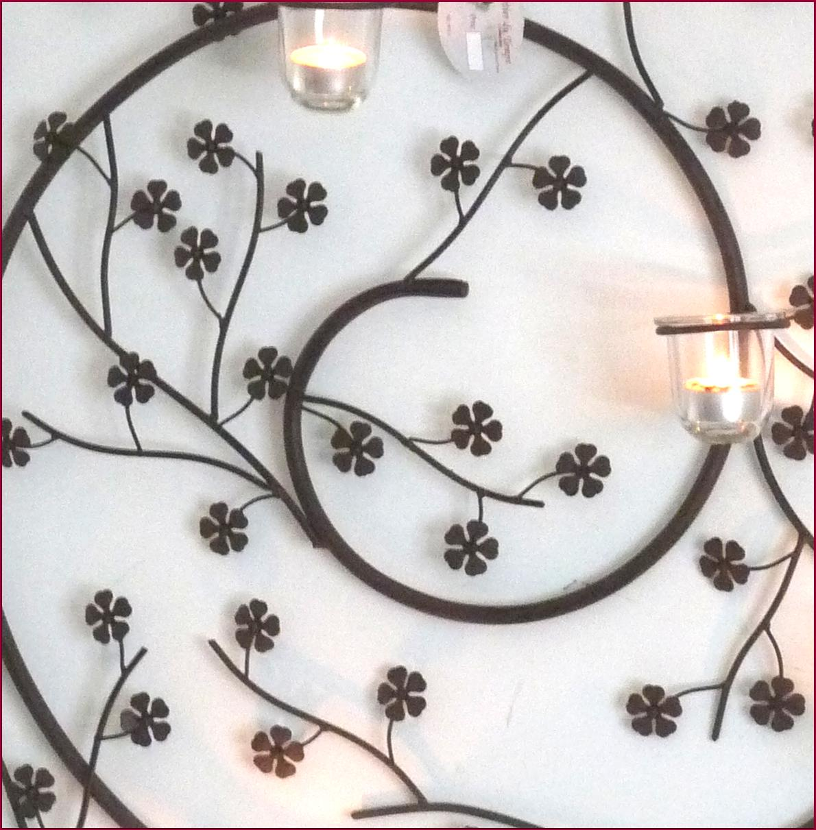 Applique Fronton Grille Bougeoir Chandelier Mural A Bougie