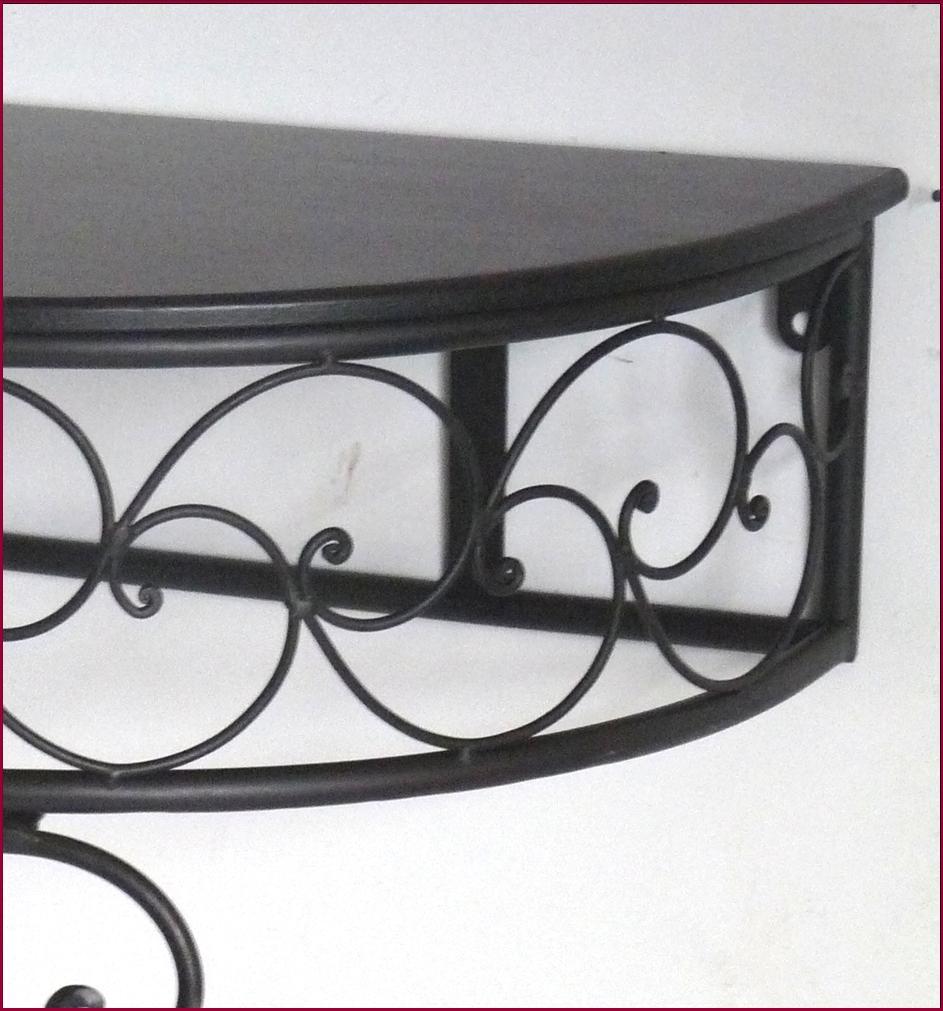etagere console table sellette gueridon murale en fer avec pied demi lune ht75cm ebay. Black Bedroom Furniture Sets. Home Design Ideas