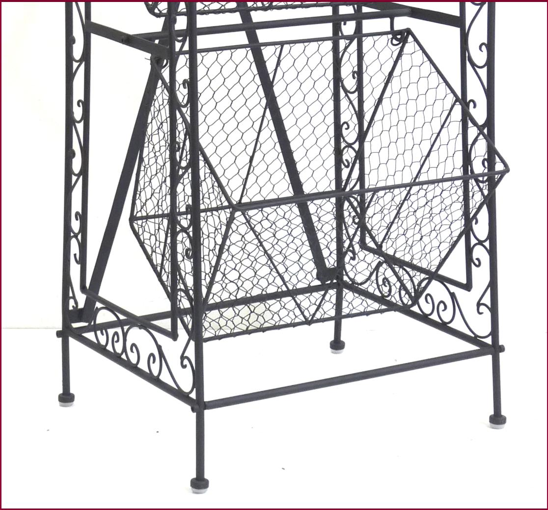 etagere console meuble de cuisine a panier grillage casier caisse en fer metal ebay. Black Bedroom Furniture Sets. Home Design Ideas