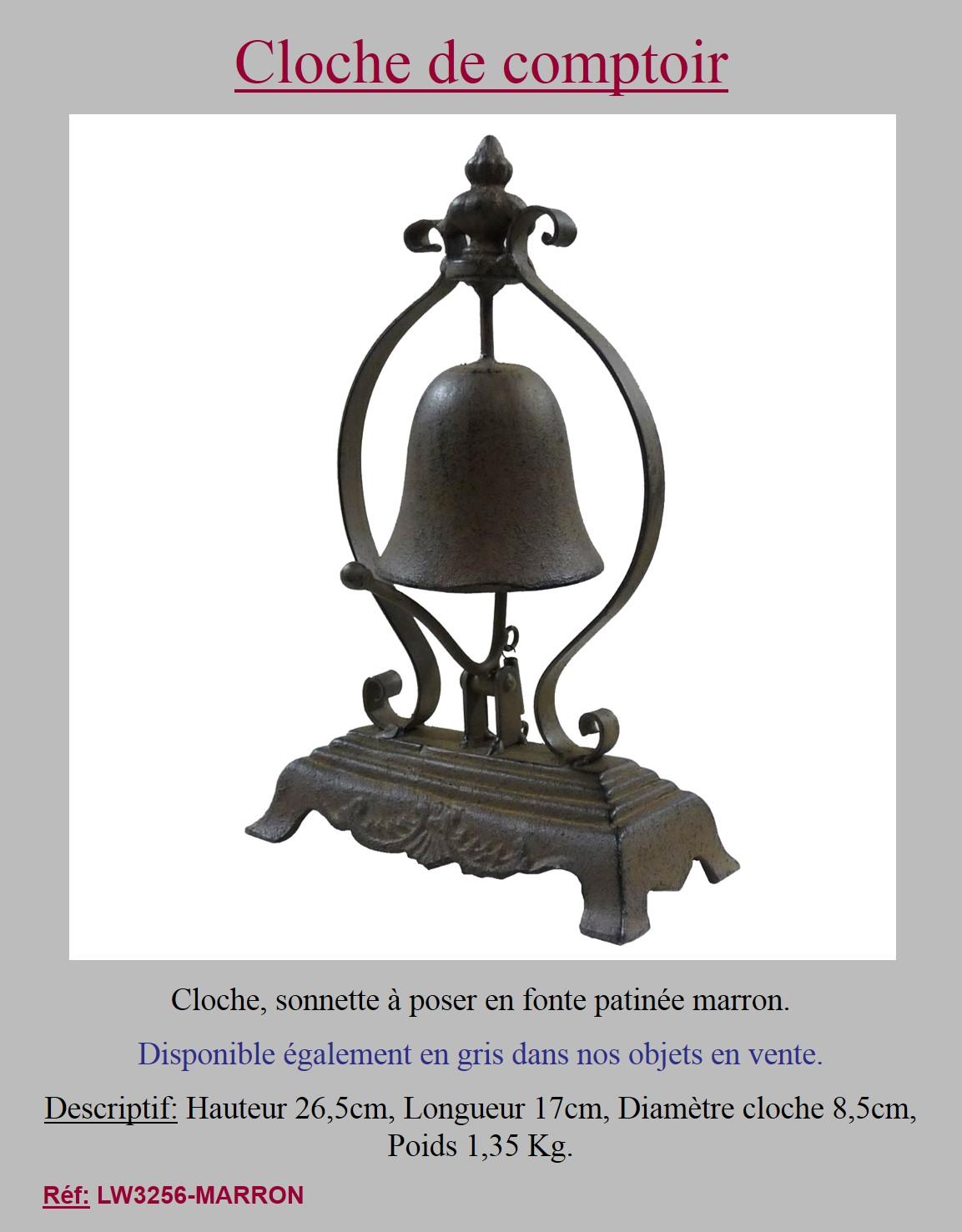 Style ancienne cloche clochette sonnette de table de - Sonnette de comptoir ...