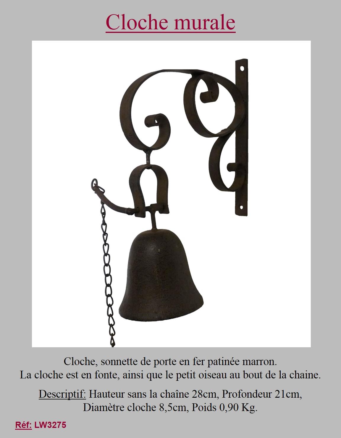 Style ancienne cloche clochette sonnette d entr e de porte portail 28cm ebay for Cloche de porte d entree