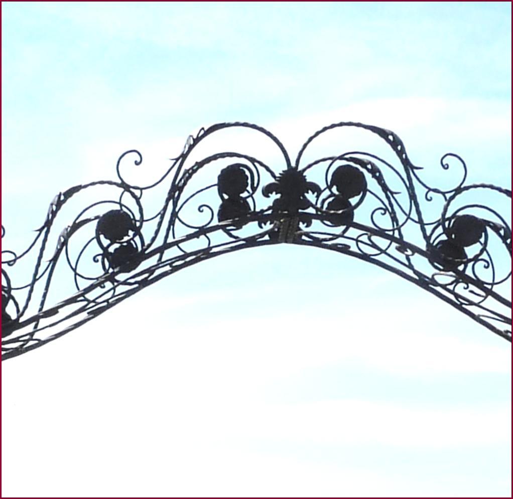 Style ancien portail portillon porte arche de jardin en for Portillon de jardin