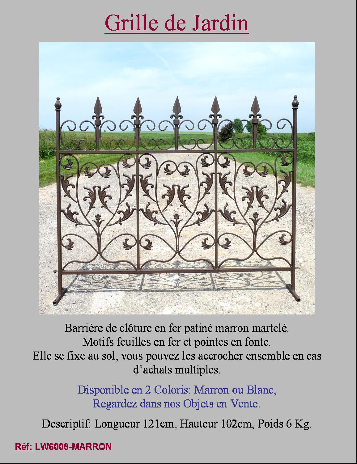 Style ancienne barriere grille cloture de jardin for Barriere de jardin