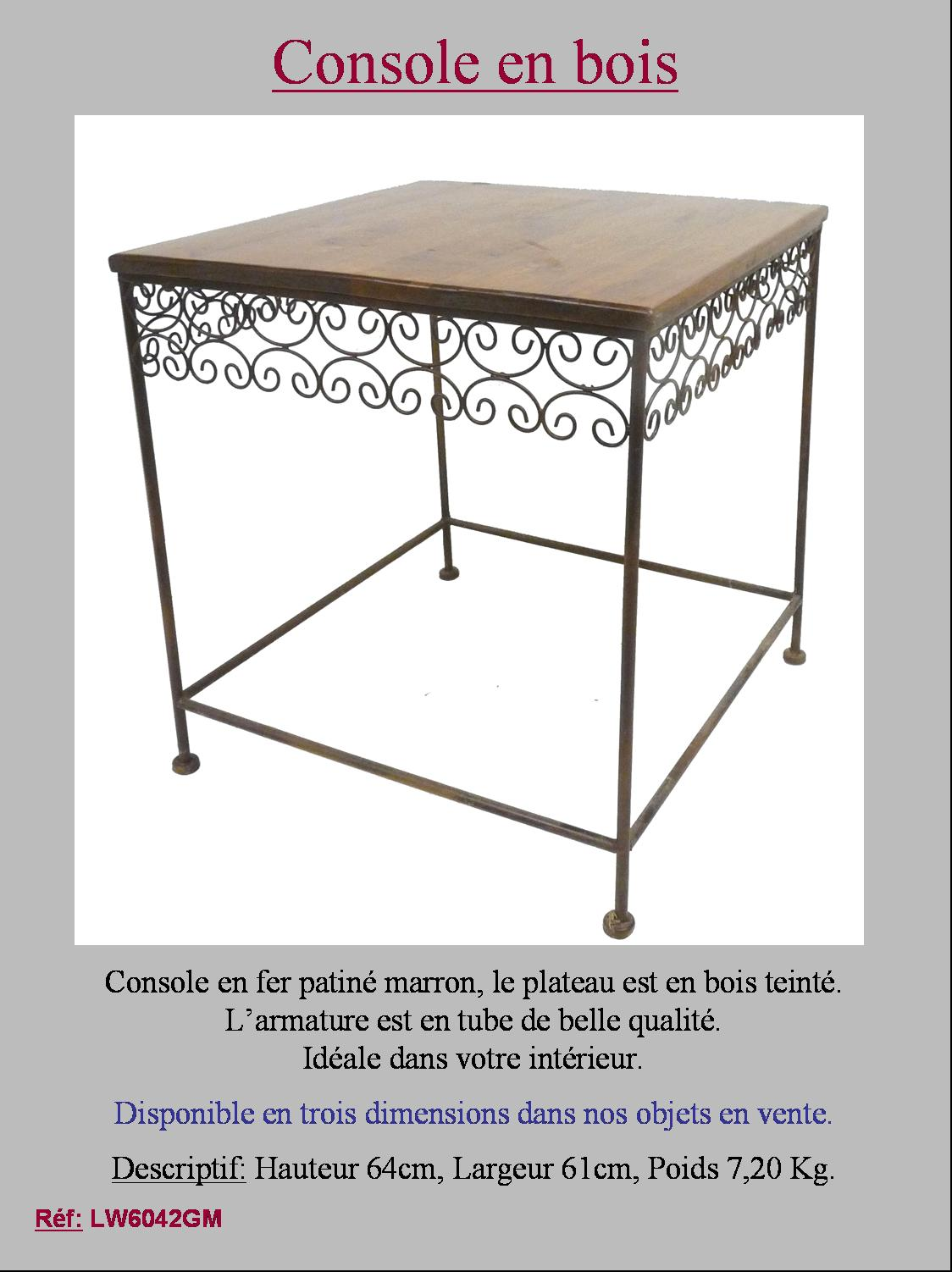 Details about style ancienne table gueridon de chevet - Table console ancienne ...