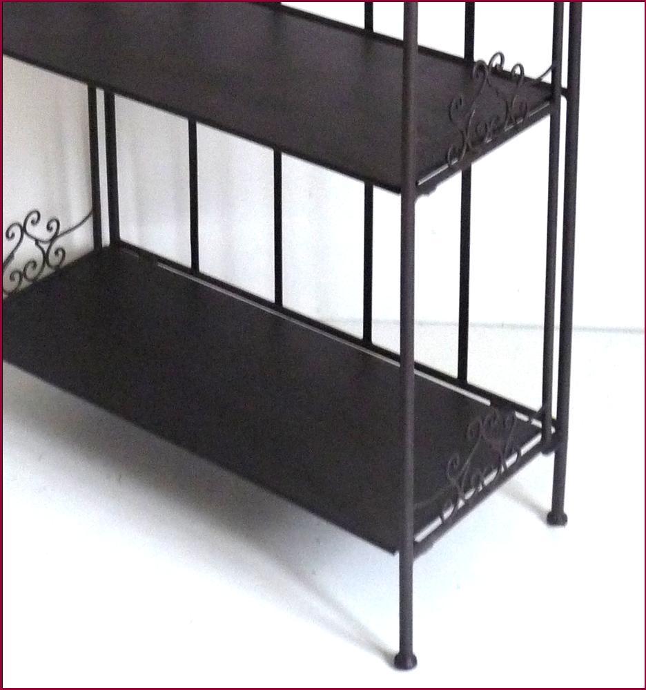 Etagere console boulangere a etages meuble de cuisine - Etagere angle salle de bain ...