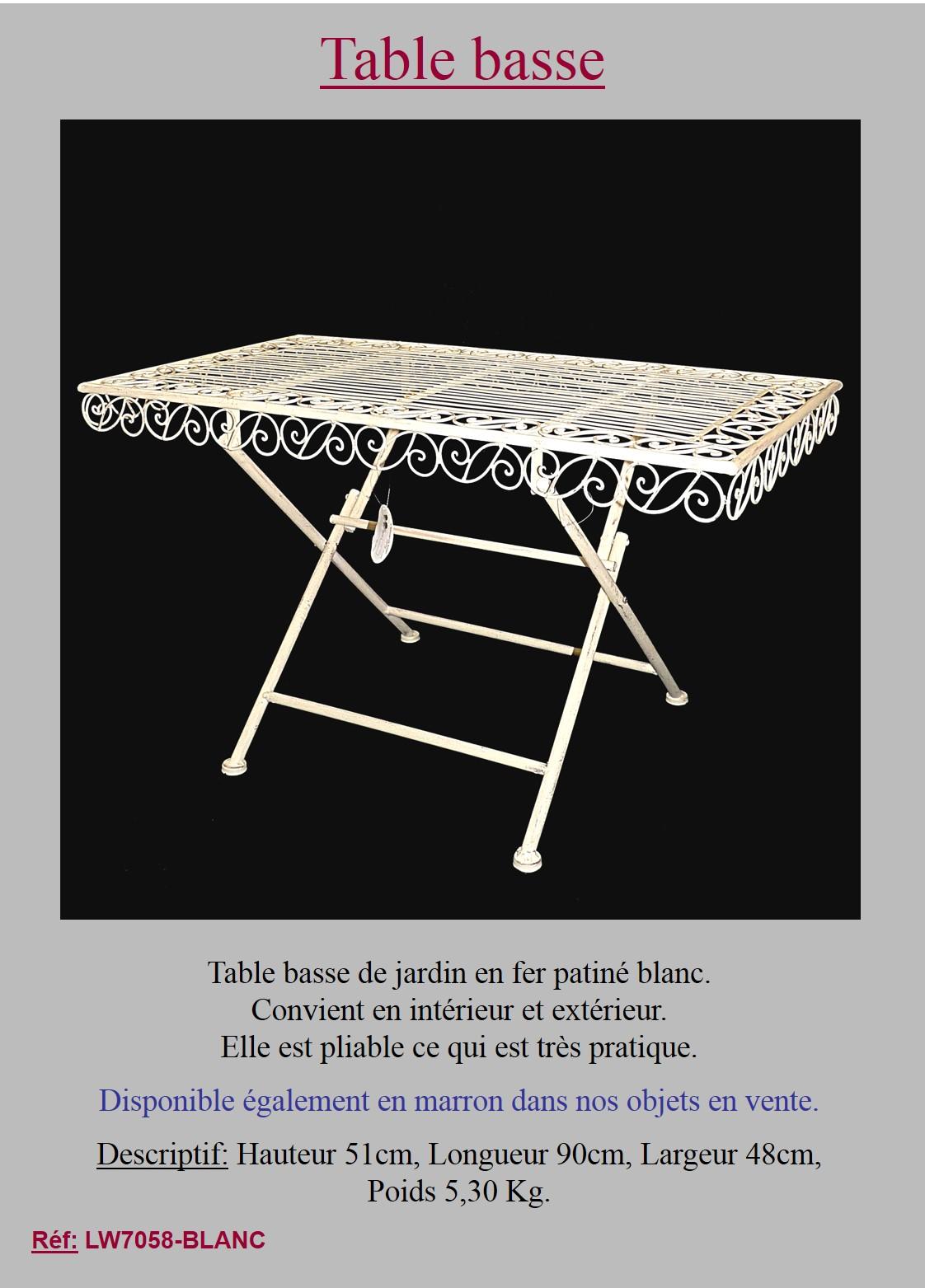 Table Basse Pliante Ancienne